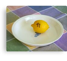 Lemon Pi Canvas Print