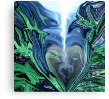 Straight to My Heart - Abstract  Art + Products Design  Canvas Print