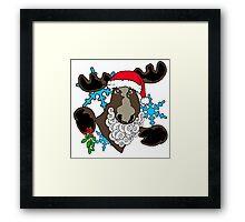 Mistletoe moose  Framed Print