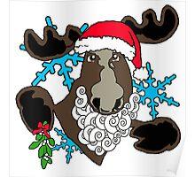 Mistletoe moose  Poster