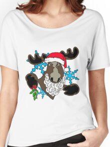 Mistletoe moose  Women's Relaxed Fit T-Shirt
