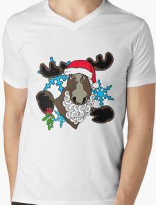 Mistletoe moose  Mens V-Neck T-Shirt