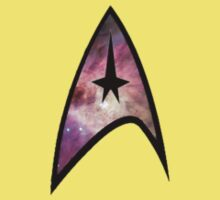 Cosmic Star Trek Insignia in Red Kids Tee