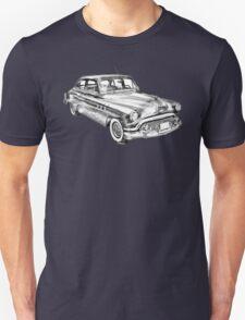 1951 Buick Eight Antique Car Illustration T-Shirt