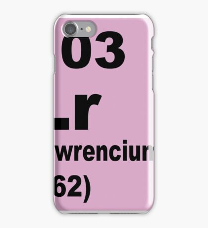 Lawrencium Periodic Table of Elements iPhone Case/Skin