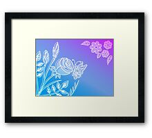 Blooming flower and butterfly. Framed Print