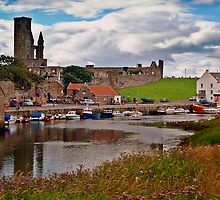 St. Andrews Harbour. by Aj Finan