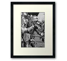 Melee in Monochrome Framed Print