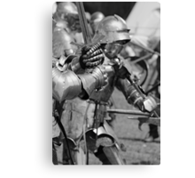 Melee in Monochrome Canvas Print