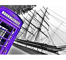 London Phonebox in Purple by Cutty Sark Photographic Print
