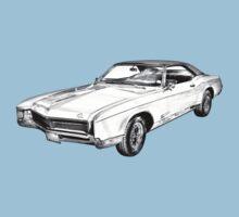 1967 Buick Riviera Illustration Kids Tee
