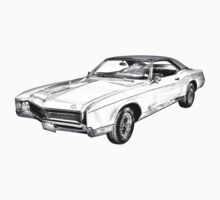 1967 Buick Riviera Illustration Baby Tee