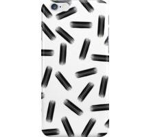 Elegant Black & White Brushstroke Pattern iPhone Case/Skin