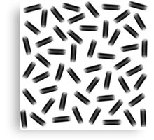 Elegant Black & White Brushstroke Pattern Canvas Print