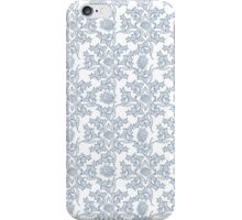 Indigo Blue Ethnic Floral Print iPhone Case/Skin