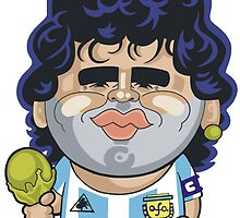 Diego Maradona by Chris Sommerville