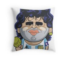 Diego Maradona Throw Pillow
