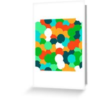 Big overlapping circles in green colors Greeting Card