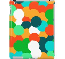 Big overlapping circles in green colors iPad Case/Skin