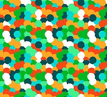 Big overlapping circles in green colors by tukkki