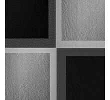 Black and White Leather Patchwork 2 Photographic Print