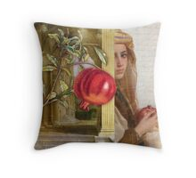 The Pomegranate Eater Throw Pillow