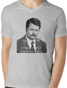 Advice: Geography/Feelings Mens V-Neck T-Shirt