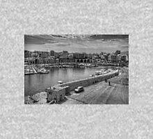Heraklion Old Port B&W Zipped Hoodie