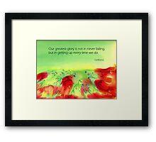 Never give up! Framed Print