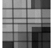 Black and White Leather Patchwork 3 Photographic Print