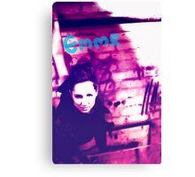 Emma grunge style Canvas Print