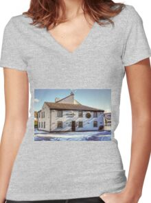 The Crown Inn Women's Fitted V-Neck T-Shirt