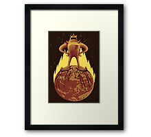 Starman Own Earth Framed Print