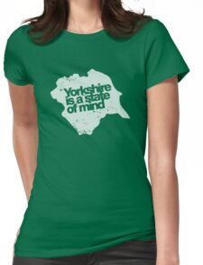 Yorkshire is a state of mind (white) Womens Fitted T-Shirt