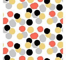Polka dot print in multiple colors Photographic Print