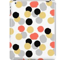 Polka dot print in multiple colors iPad Case/Skin