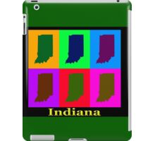 Colorful Indiana State Pop Art Map iPad Case/Skin