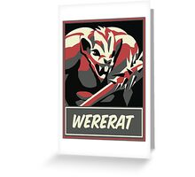 WERERAT Greeting Card