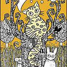 Golden Moon Kitty by Anita Inverarity