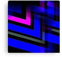 Energetic (blue-black-magenta) Canvas Print