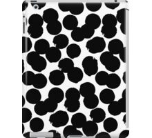 Hand painted polka dot print in black and white colors iPad Case/Skin