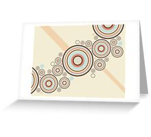 Colorful Graphic Rings Greeting Card