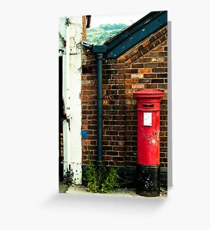 post box in macclesfield Greeting Card