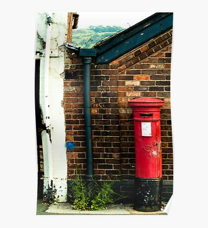 post box in macclesfield Poster