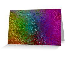Rainbow Splatter Pattern Greeting Card
