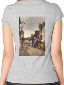 Black and White on the High Street Women's Fitted Scoop T-Shirt