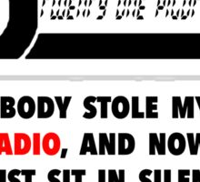 LOST: Car Radio Sticker