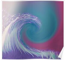 Purple Wave with Blue and Pink Accents  Poster