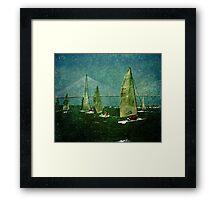 Sailing Regatta in Charleston SC Framed Print