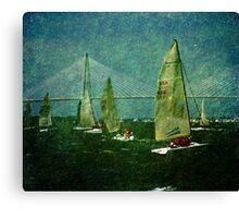 Sailing Regatta in Charleston SC Canvas Print
